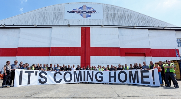 """Image forWIGHT SHIPYARD COMPANY AND SMS: """"IT'S COMING HOME"""""""