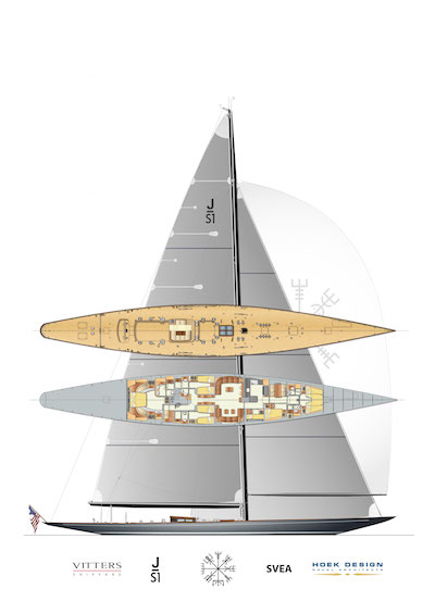 Image for article Vitters' first J Class under construction