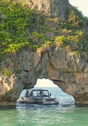 Image for article Exuma's amphibious Jeep