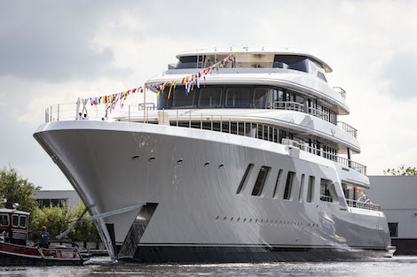 Image for article Feadship launches 92m superyacht 'Aquarius'