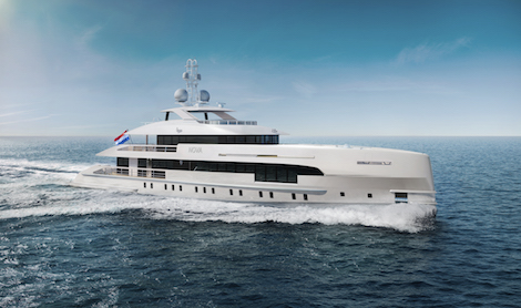 Image for article Heesen completes joining of Project Nova's hull and superstructure