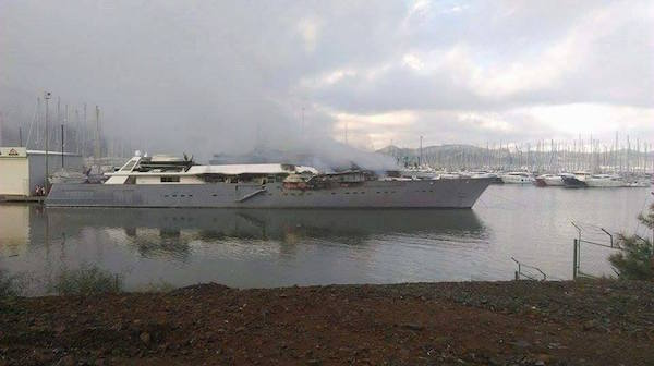 Image for article Marmaris superyacht blaze