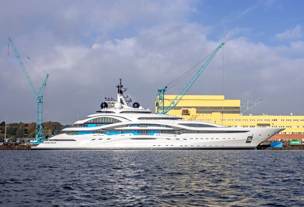 Image for article Lürssen launches 123m superyacht Project 'Jupiter'