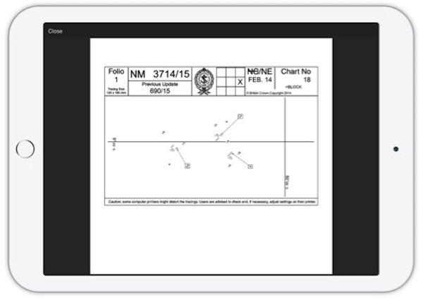 Image for article App providing paper chart correction service launched