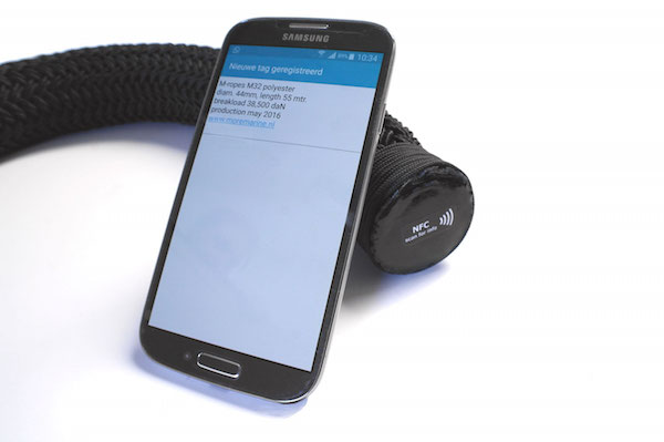 Image for article NFC technology for mooring lines