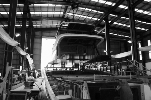 Image for article The world's biggest carbon sportsfisher takes shape
