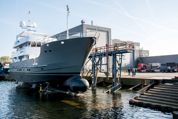 Image for article Balk Shipyard relaunches 31m 'Sandalphon' following major refit