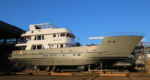 Image for article Balk Shipyard relaunches 31m 'Sandalphon' following major refit