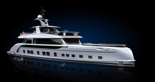 Image for article Dynamiq superyacht with Porsche DNA in build