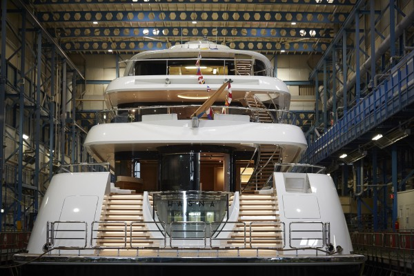 Image for article Feadship launches 73m 'Hasna'