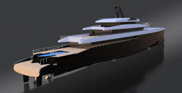 Image for article Laurent Giles unveils 110m high efficiency motoryacht