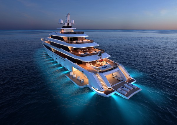 Image for article Columbus Yachts unveils 80m hexa-deck superyacht