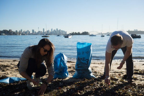 Image for article A superyacht Sydney beach clean