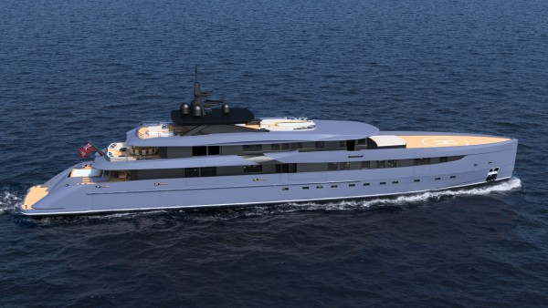 Image for article Marco Ferrari's new 65m superyacht concept