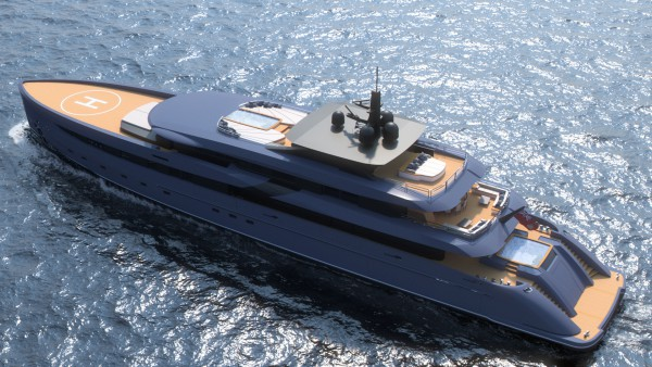 Image for article  Marco Ferrari's new 65m superyacht concept