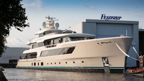 Image for article A glimpse of Feadship's hull #696