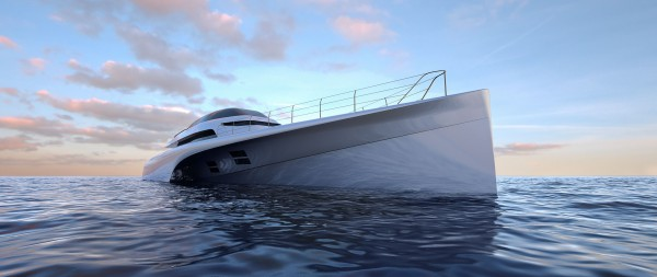 Image for article Design Unlimited unveils new 46.8m trimaran concept