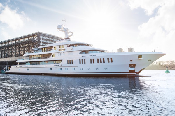 Image for article Lürssen launches 74m 'Aurora'