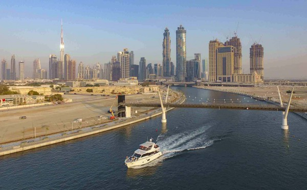 Image for article The Dubai Water Canal: yachting in the UAE