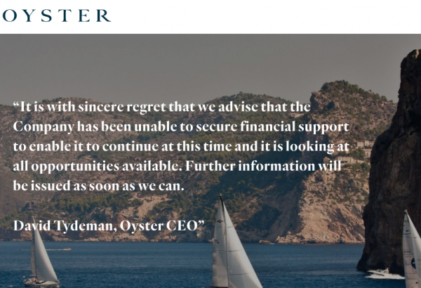 Image for article UPDATE: Oyster Yachts enters administration