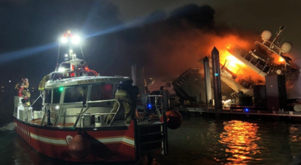 Image for 2019 M/Y Andiamo yacht fire investigation summary