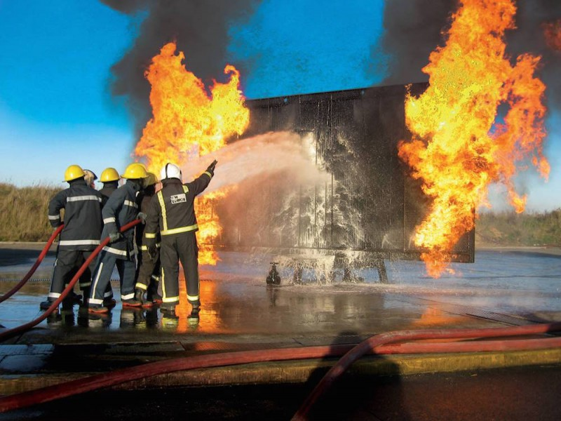 Fire fighting training at Bluewater