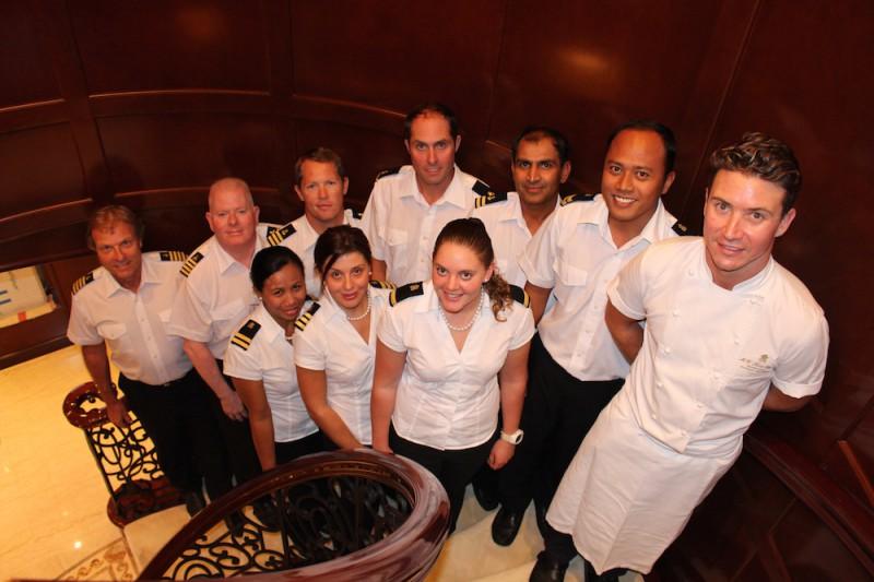 Crew of superyacht Keri Lee