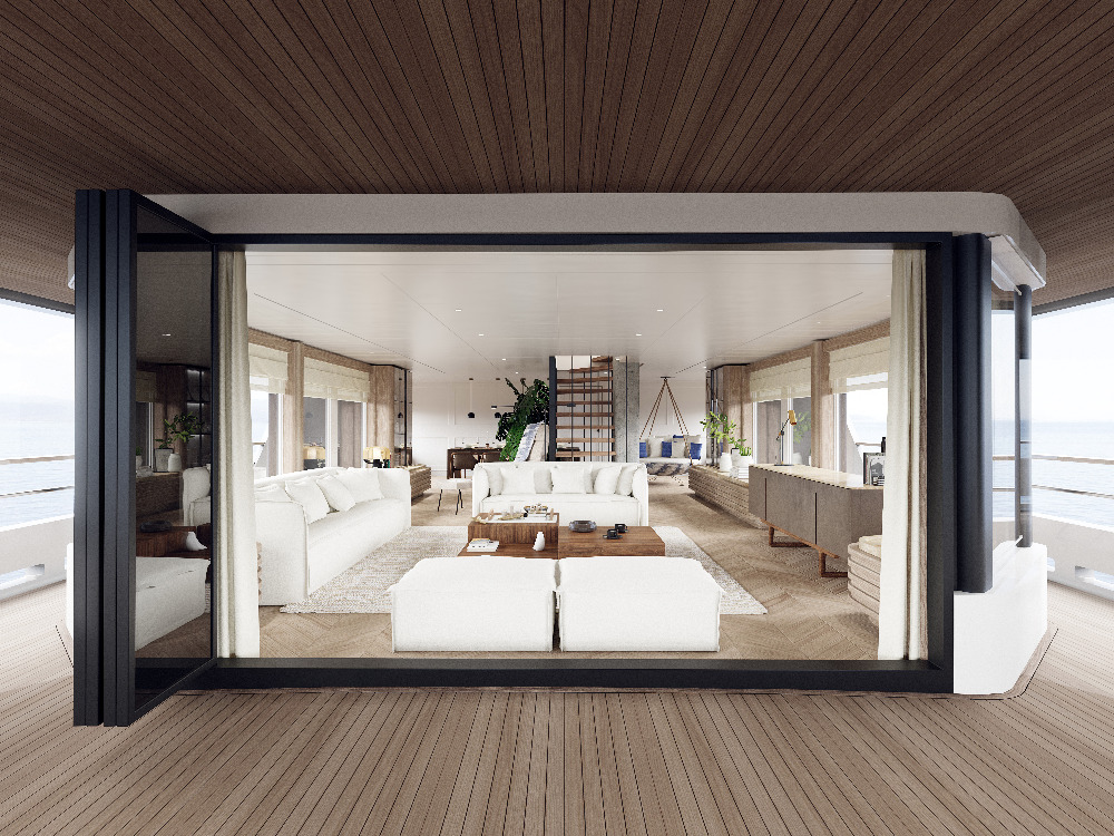 Image for article A superyacht interior inspired by nature