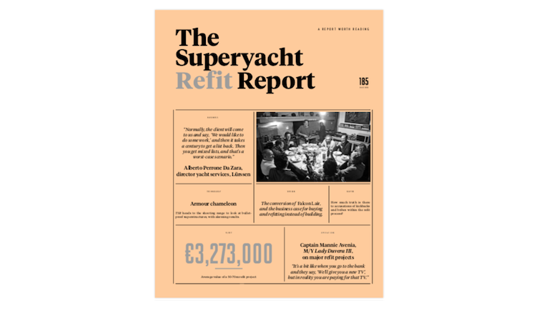 Image for article The Superyacht Refit Report