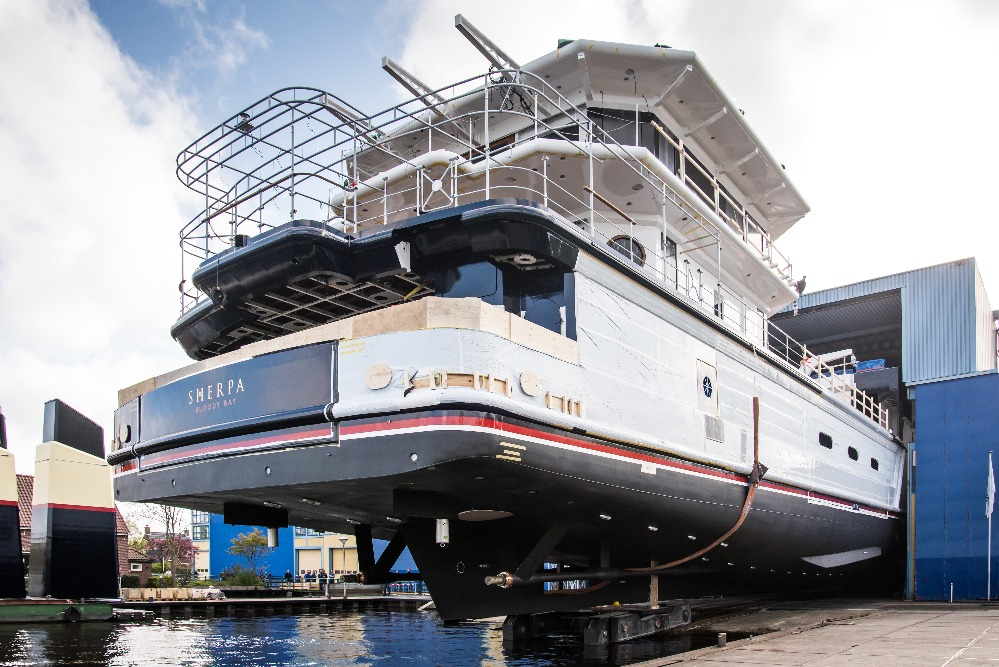 Image for article Feadship launches 74m explorer 'Sherpa'