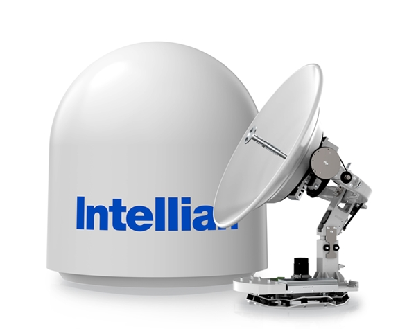 Image for article Intellian unveils new satellite antenna system