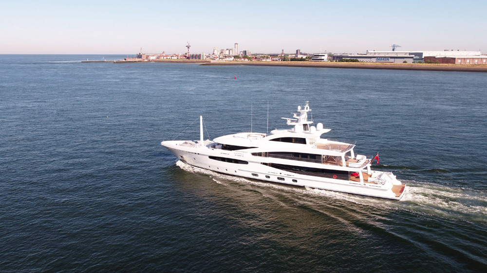 Image for article Amels delivers first hybrid superyacht
