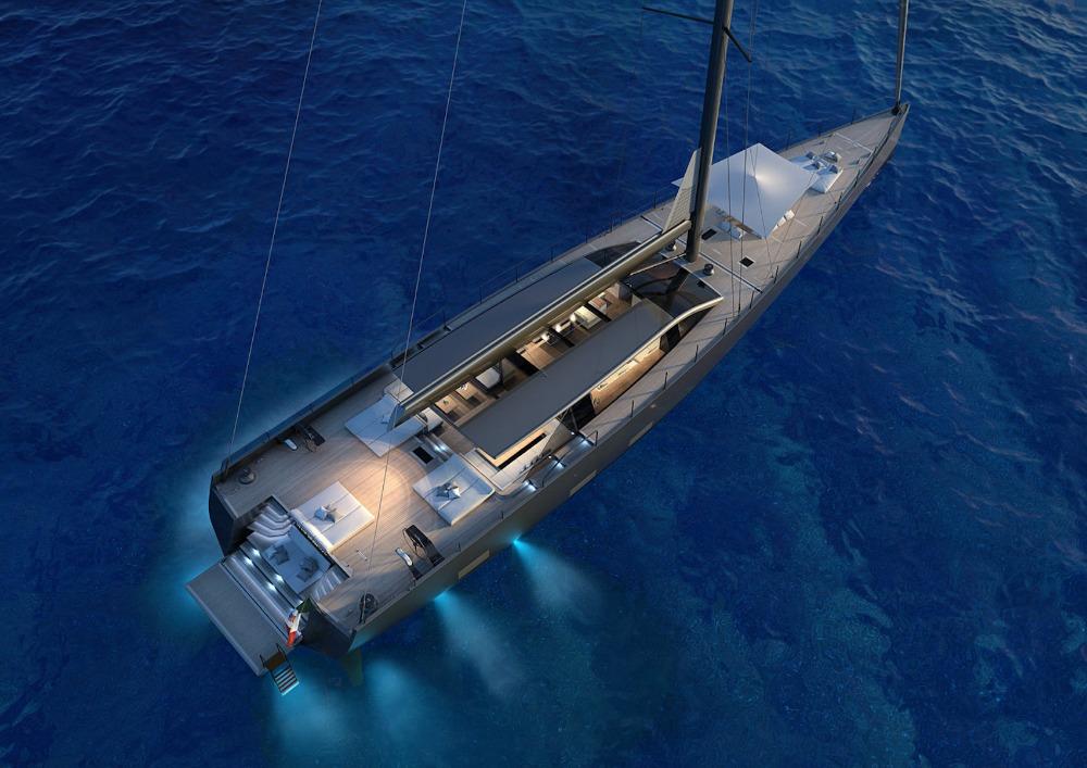 Image for article Perini Navi sells 42m hybrid sailing yacht