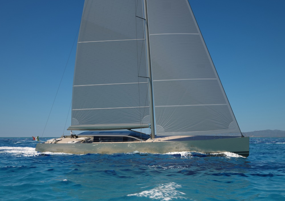 Image for article Perini Navi sells 42m hybrid sailing yacht