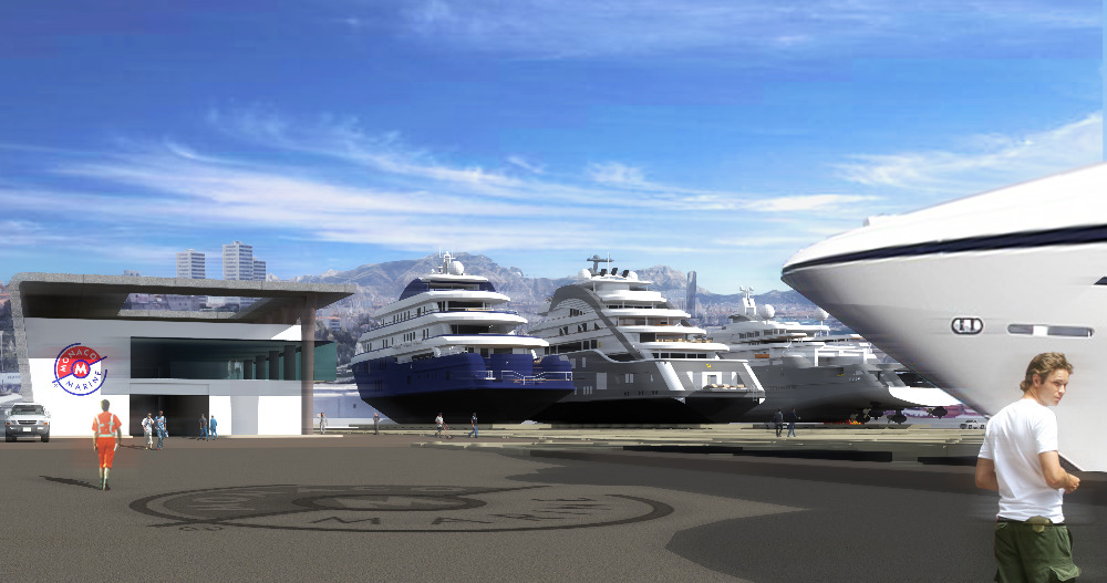 Image for article Monaco Marine unveils plans for new 130m facility