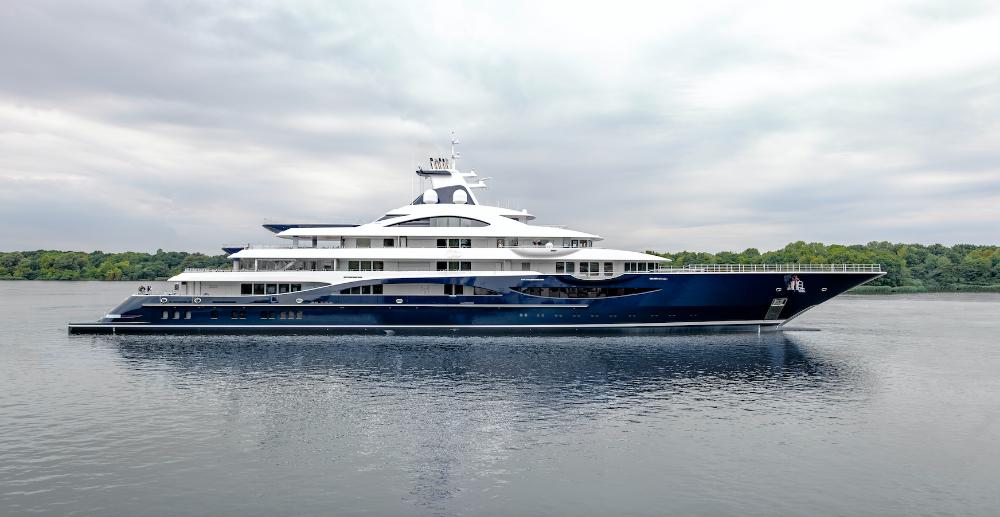 Image for article Lürssen launches 111m superyacht 'TIS'