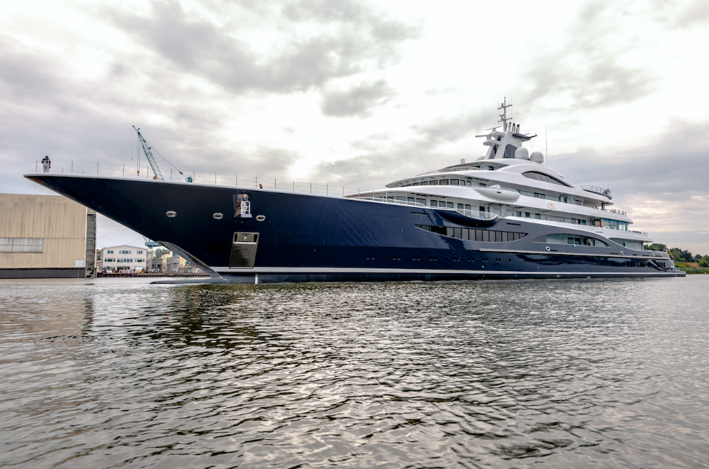 Image for article Lürssen launches 111m superyacht 'TIS'