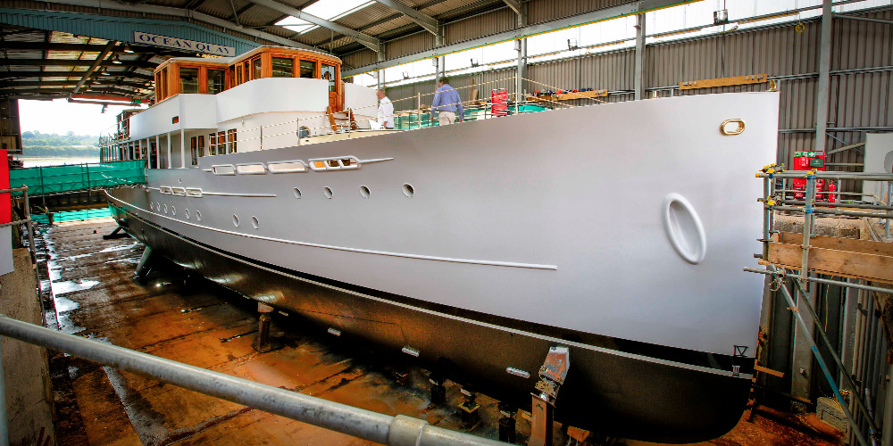 Image for article SMS completes three-year restoration of classic 50m superyacht