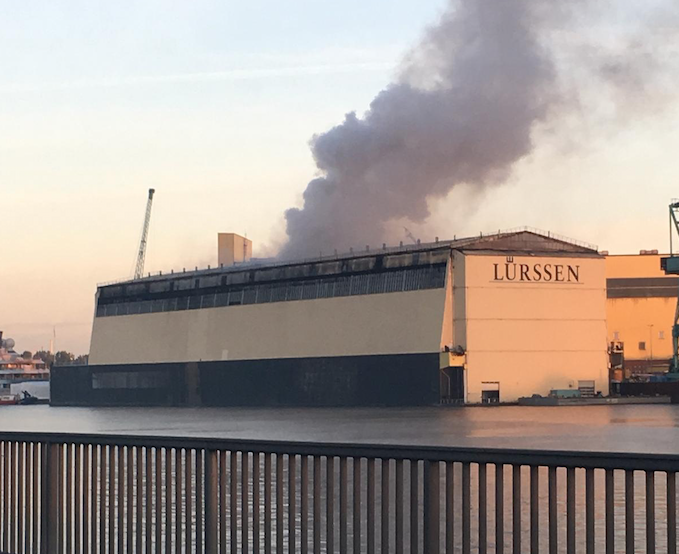 Image for article Floating dock fire - a sad day for Lürssen