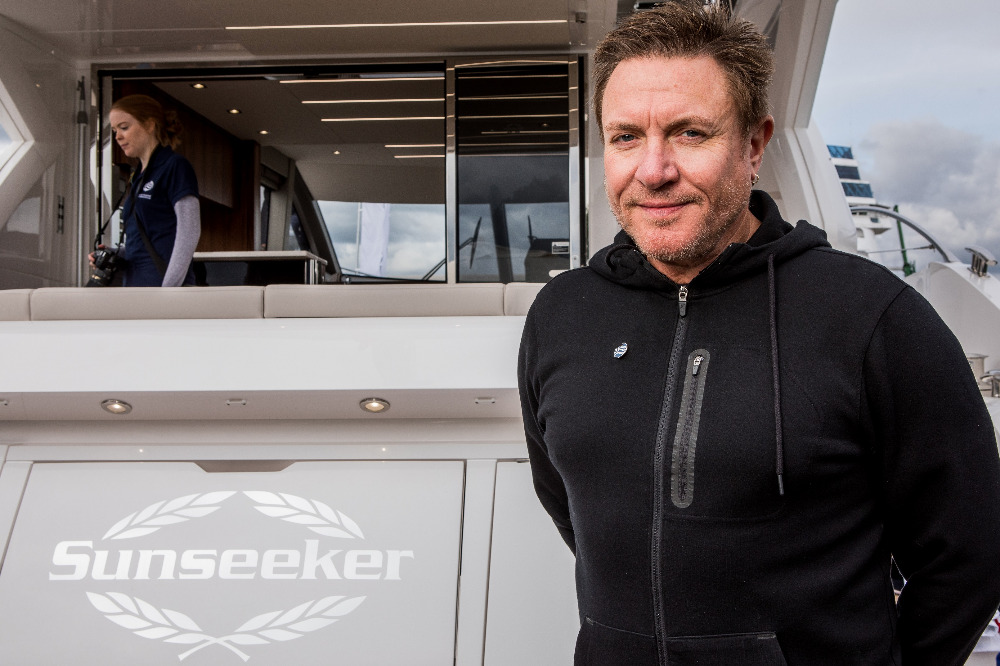 Image for article Simon Le Bon supports Sunseeker and BLUE