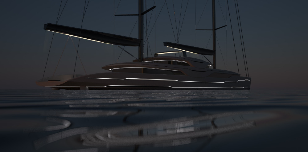 Image for article Van Geest and Rob Doyle Design unveil new 93m sailing yacht