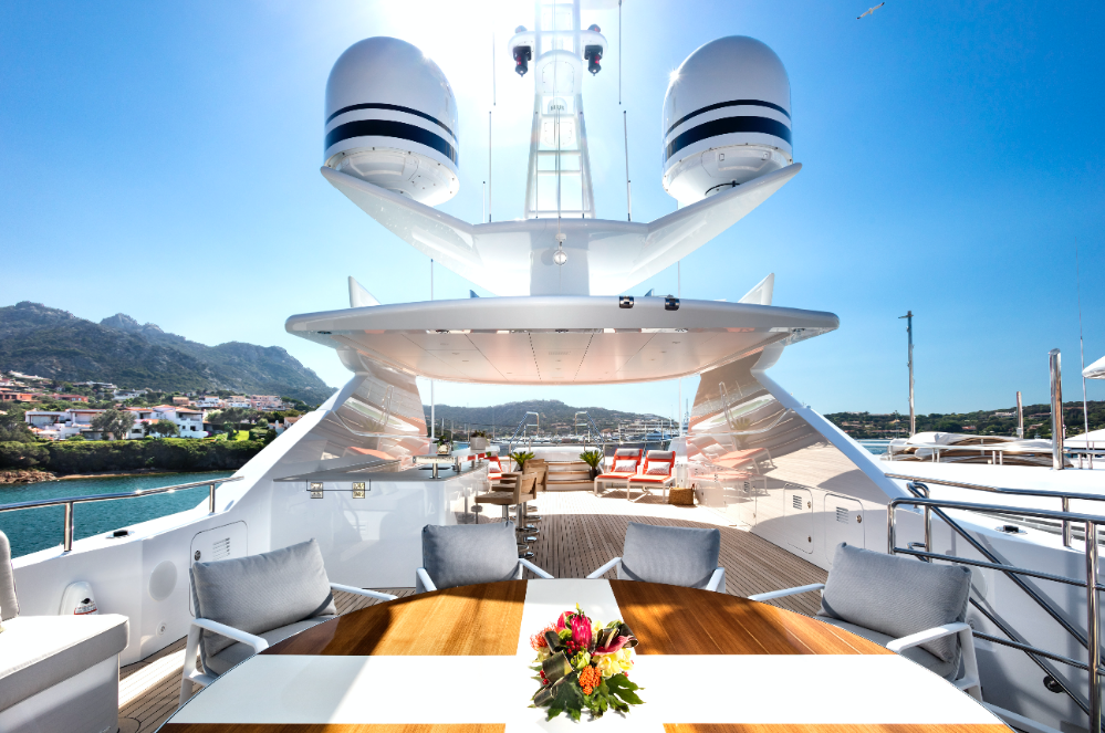 Image for article On display at the MYS: 47m M/Y Book Ends