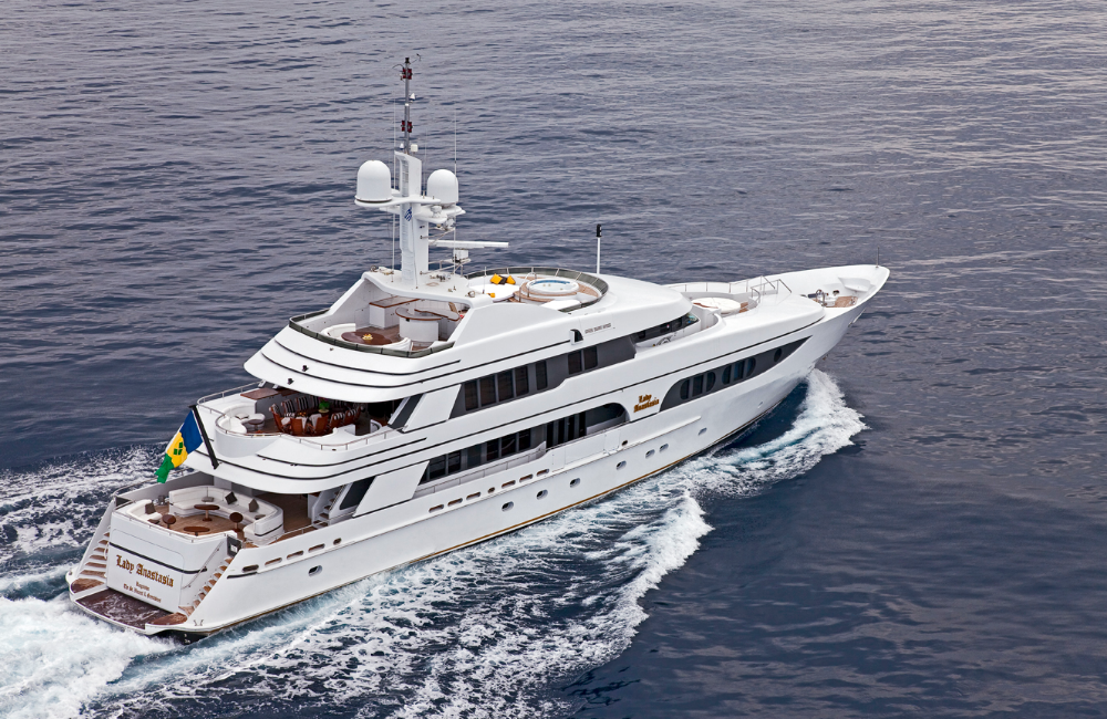 Image for article On display at the MYS: 47.6m M/Y Lady Anastasia