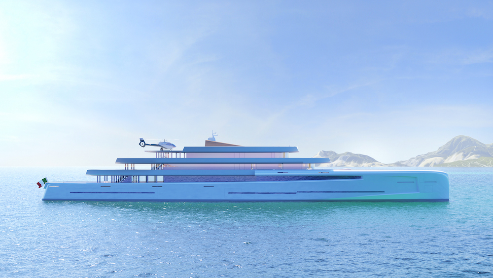 Image for article Fincantieri unveils new 106m superyacht concept