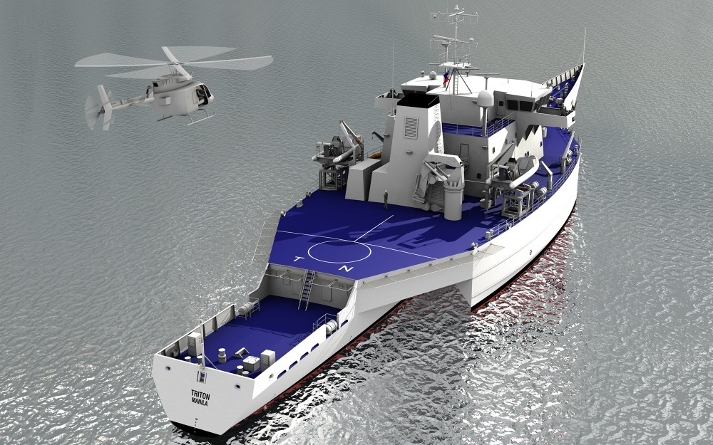 Image for article Ocean Independence lists 98m military-spec trimaran for sale