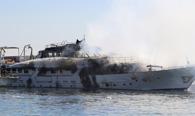 Image for article M/Y 'Lalibela' severely damaged by fire
