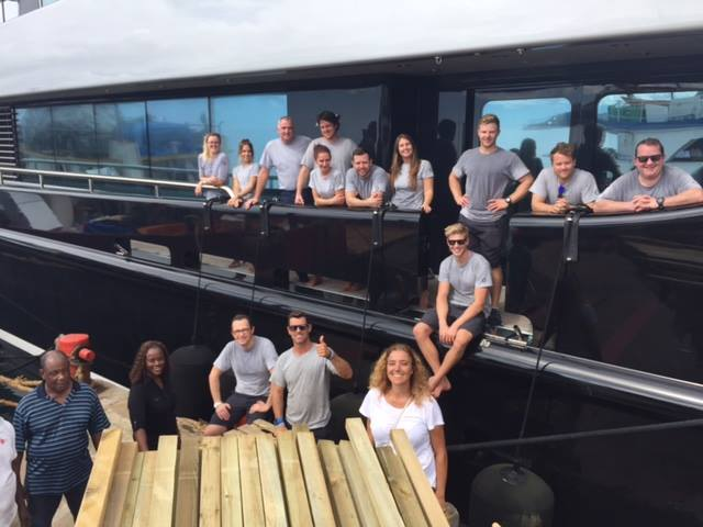 Image for article M/Y 'Slipstream' collects donations for Barbuda