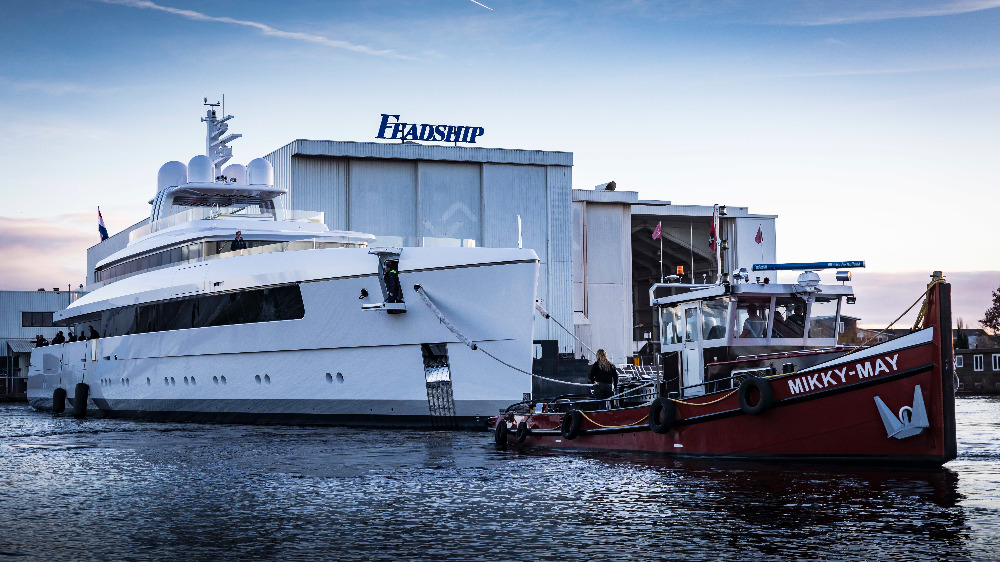 Image for article Feadship launches its first vessel of 2019