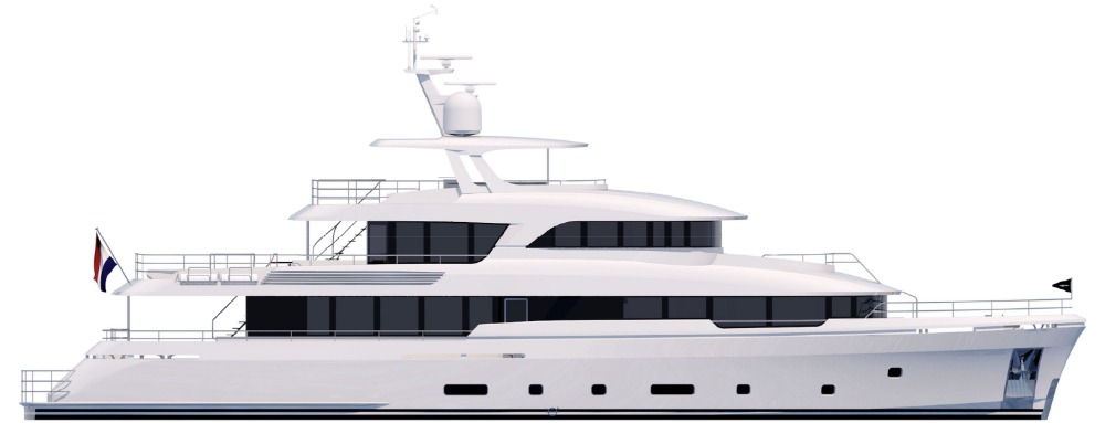 Image for article 36m motoryacht in build at Moonen