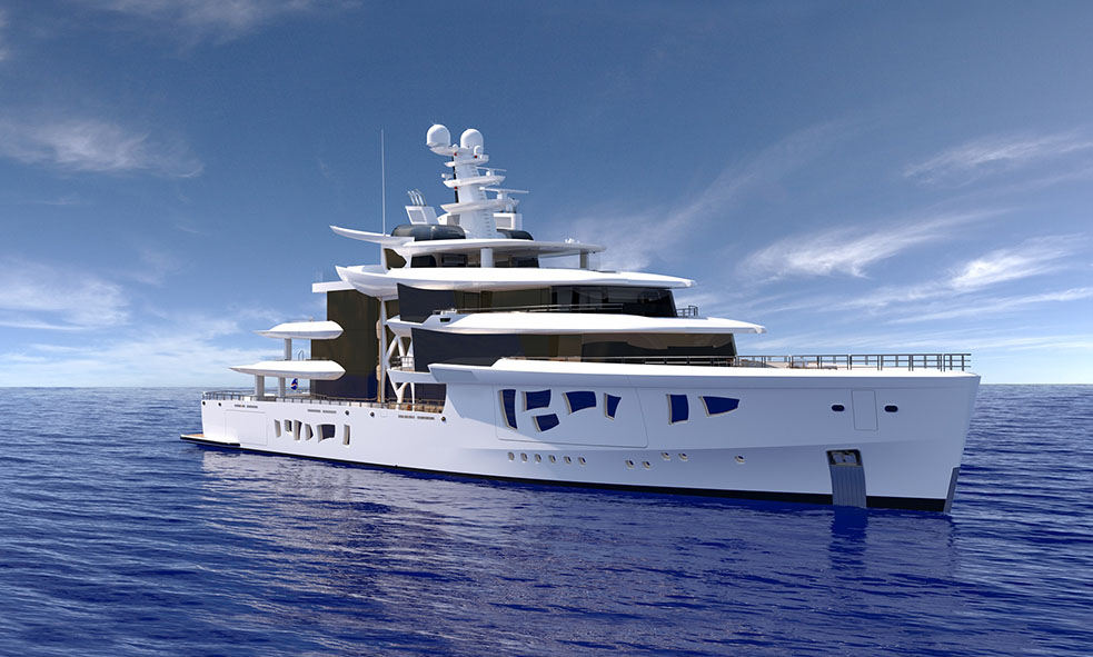 Image for article Flagging 80m M/Y 'Artefact'